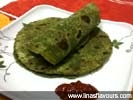Palak Paratha (Spinach Indian flat bread)